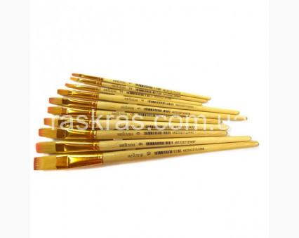 00-00007374 Аксессуары для картин по номерам Кисть для рисования плоская  РОСА