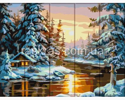 ASW104 картина по номерам Зима  ArtStory