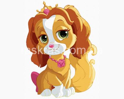 ATE0036 картина по номерам без коробки Королевская собачка НикиТошка