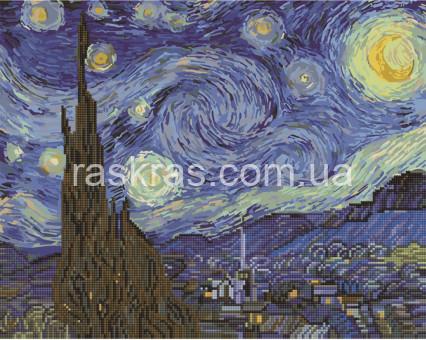 BGZS1001 алмазная картина Звёздная ночь. Ван Гог Brushme