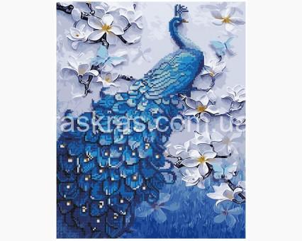 BGZS1060 картина по номерам Павлин на ветках магнолии Brushme