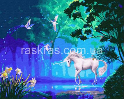 BK-GX26929 картина по номерам без коробки Волшебный единорог Rainbow Art