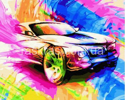 BK-GX28116 картина по номерам без коробки Авто в красках Brushme