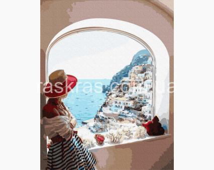 BK-GX31722 картина по номерам Вид на Сицилию Brushme