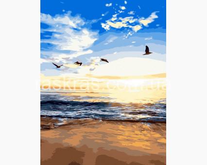 BK-GX3329 Картина раскраска Утренний пляж