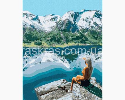 BK-GX39157 картина по номерам Девушка в горах НикиТошка