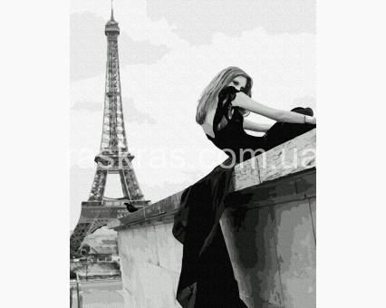 BK-GX39161 картина по номерам Фотосессия у Эйфелевой Башни НикиТошка