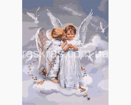 BK-GX6498 Картина по номерам Два ангела (Без коробки)