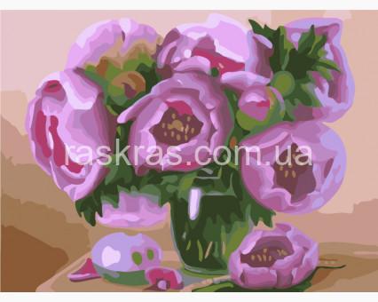 BK-GX7264 картина по номерам без коробки Розовые пионы Brushme