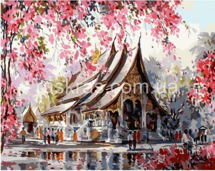 BRM22960 Раскраска по номерам Весенний Тайланд (Без коробки)