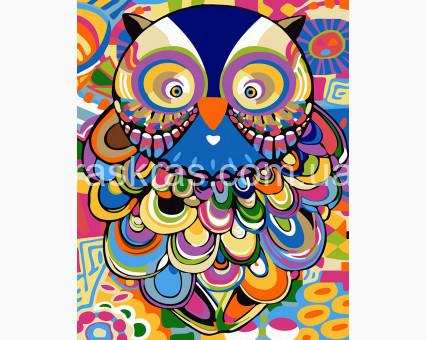 BRM24148 Раскраска по цифрам Абстрактная сова