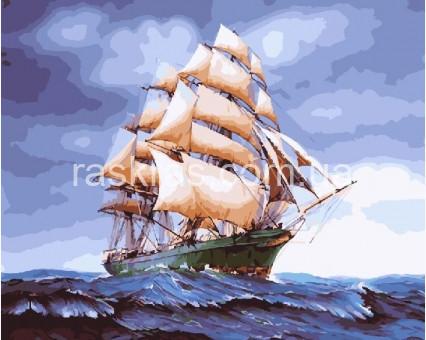 BRM25149 Раскраска по номерам Парусник на волнах