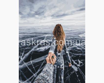 BRM26277 Картина раскраска Следуй за мной Зимний Байкал