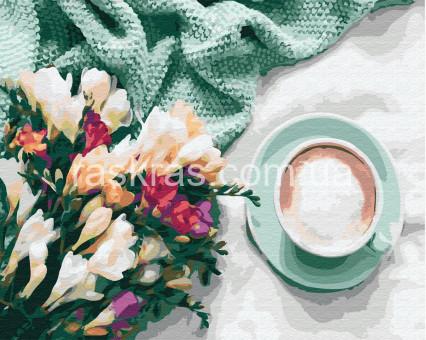 BRM26867 картина по номерам Цветы и кофе Rainbow Art