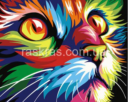 BRM28475 Картина раскраска Радужный кот