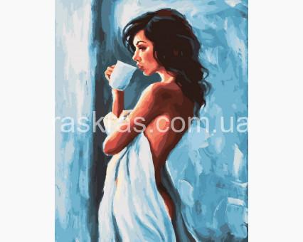 BRM32015 Живопись по номерам Утро начинается с кофе