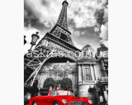 BRM32129 картина по номерам Красный ретро-автомобиль Rainbow Art