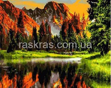 BRM3348 картина по номерам Закат в горной долине Raskraski