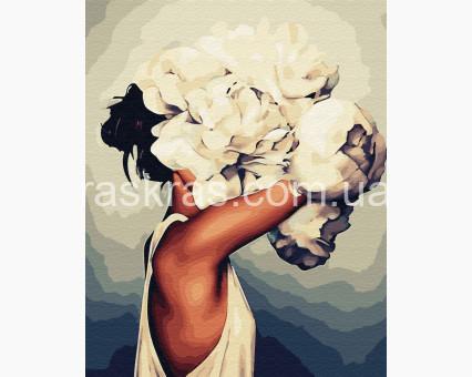 BRM33516 картина по номерам Женщина в пионах Эми Джадд Brushme