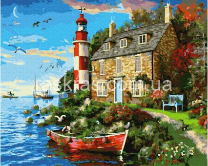 BRM34029 Раскраски по номерам Дом смотрителя маяка