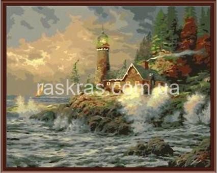 BRM341 картина по номерам Маяк на опушке леса Brushme