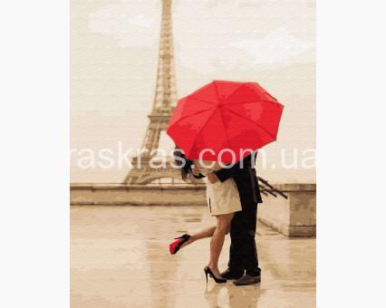 BRM34597 картина по номерам Поцелуй под зонтом НикиТошка