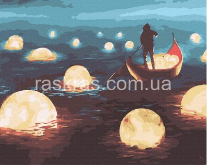 BRM34643 картина по номерам Лунная прогулка Brushme