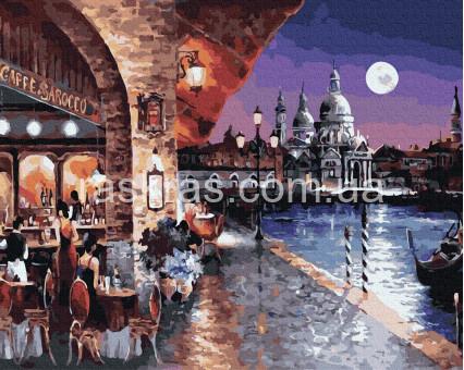 BRM35720 картина по номерам Вечернее кафе Венеции Brushme