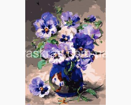 BRM3811 Картина раскраска Анютины глазки (Без коробки)
