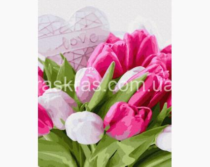 BRM38496 картина по номерам Тюльпаны с любовью Brushme