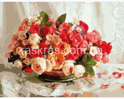 BRM389 картина по номерам Чайные розы Brushme