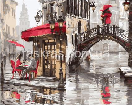 BRM3893 Картина раскраска Лондонское кафе
