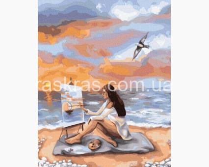 BRM39228 картина по номерам Море вдохновения Brushme