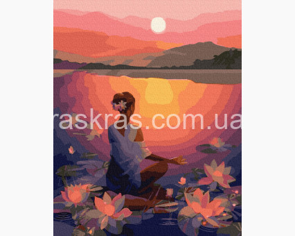 BRM39307 картина по номерам Медитация на закате НикиТошка
