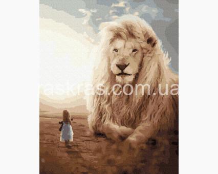 BRM39310 картина по номерам Девочка и лев НикиТошка