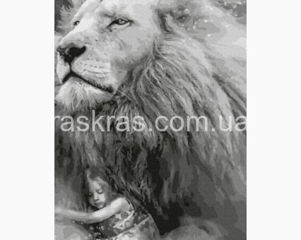 BRM39311 картина по номерам Под защитой льва НикиТошка