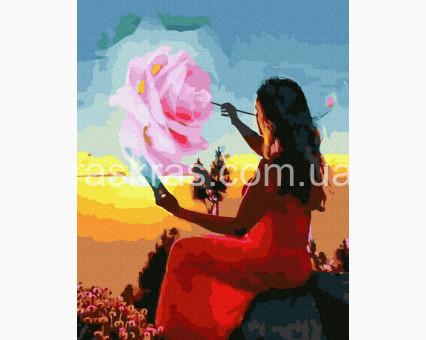 BRM39313 картина по номерам Рисование на закате НикиТошка