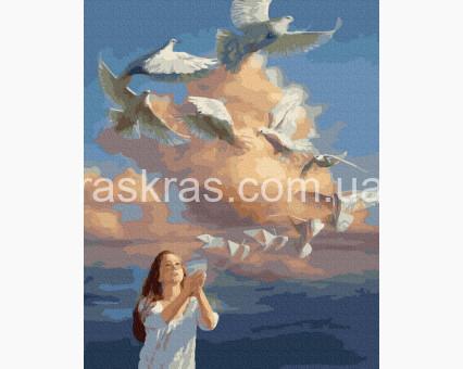 BRM39314 картина по номерам Бумажный голубь НикиТошка