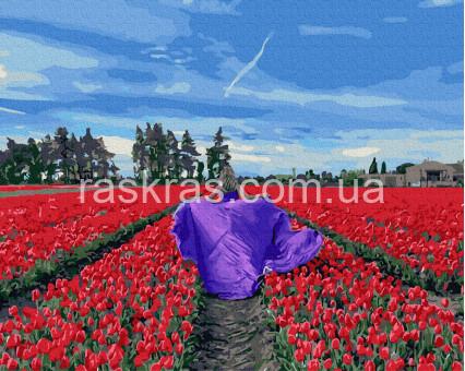 BRM39316 картина по номерам В поле тюльпанов НикиТошка