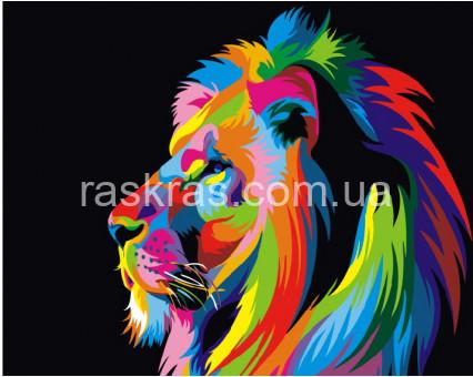 BRM3973 Картина раскраска Радужный лев