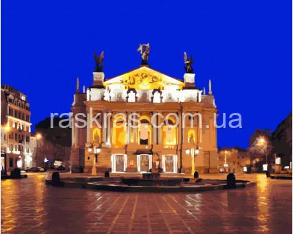 BRM5513 Картина раскраска Львов. Оперный театр