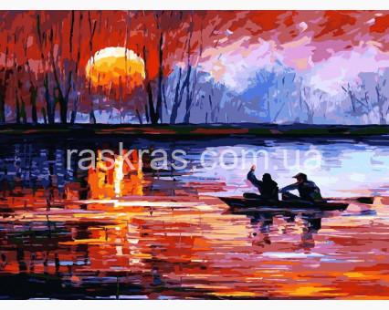 BRM6063 Картина раскраска Рыбалка на закате