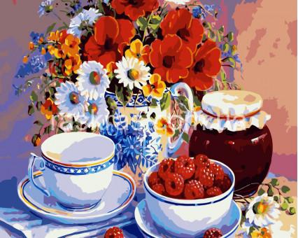 BRM7469 картина по номерам Приглашение на чай Raskraski