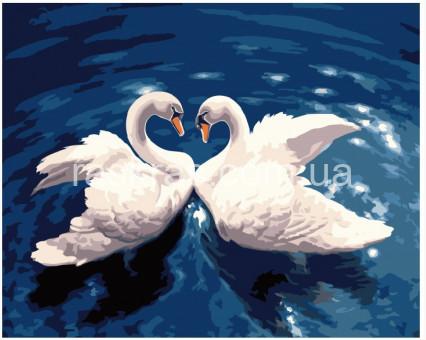 BRM7498 Картина раскраска Лебединый танец