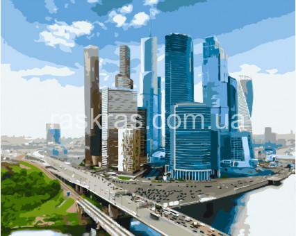 BRM7972 Картина раскраска Москва-Сити