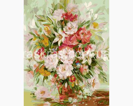 BRM8016 картина по номерам Утренний букет Brushme