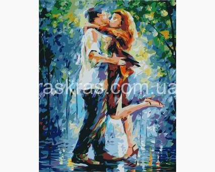 BRM8131 Картина раскраска Объятия под дождем