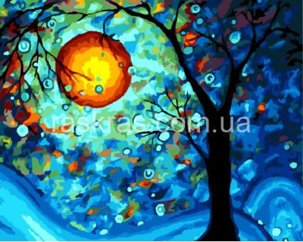 BRM8296 Картина раскраска Мистическая луна