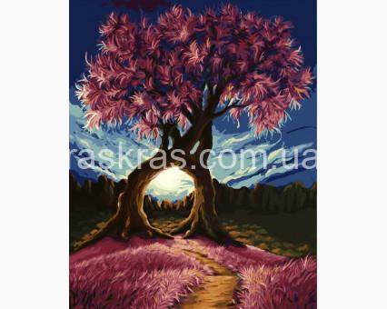 BRM8326 Картина раскраска Сплетение ветвей