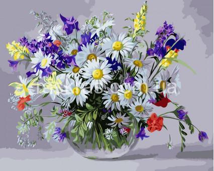 BRM9890 картина по номерам Вазочка полевых цветов Raskraski